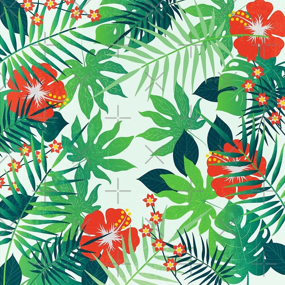 Tropical Jungle Print by Makanahele