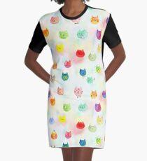 Cat confetti Graphic T-Shirt Dress