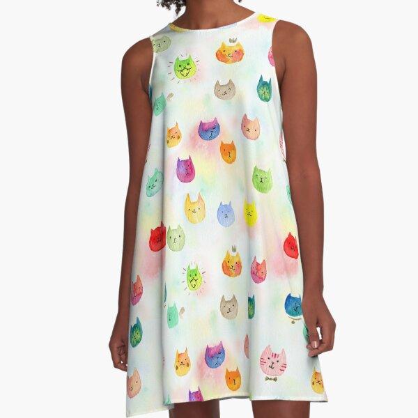 Cat confetti A-Line Dress