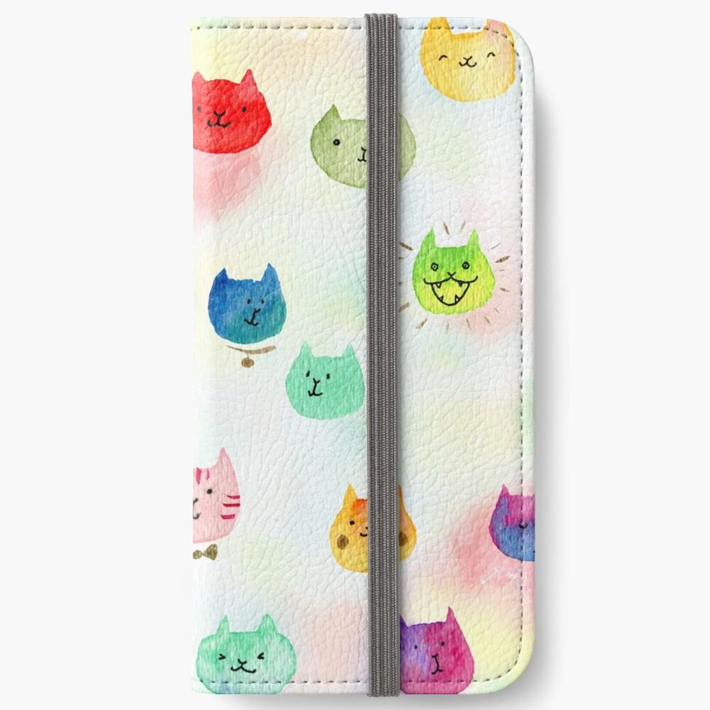 Cat confetti iPhone Wallet