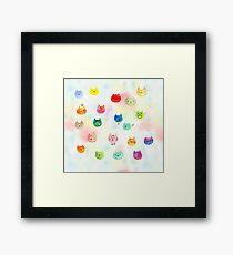 Cat confetti Framed Print