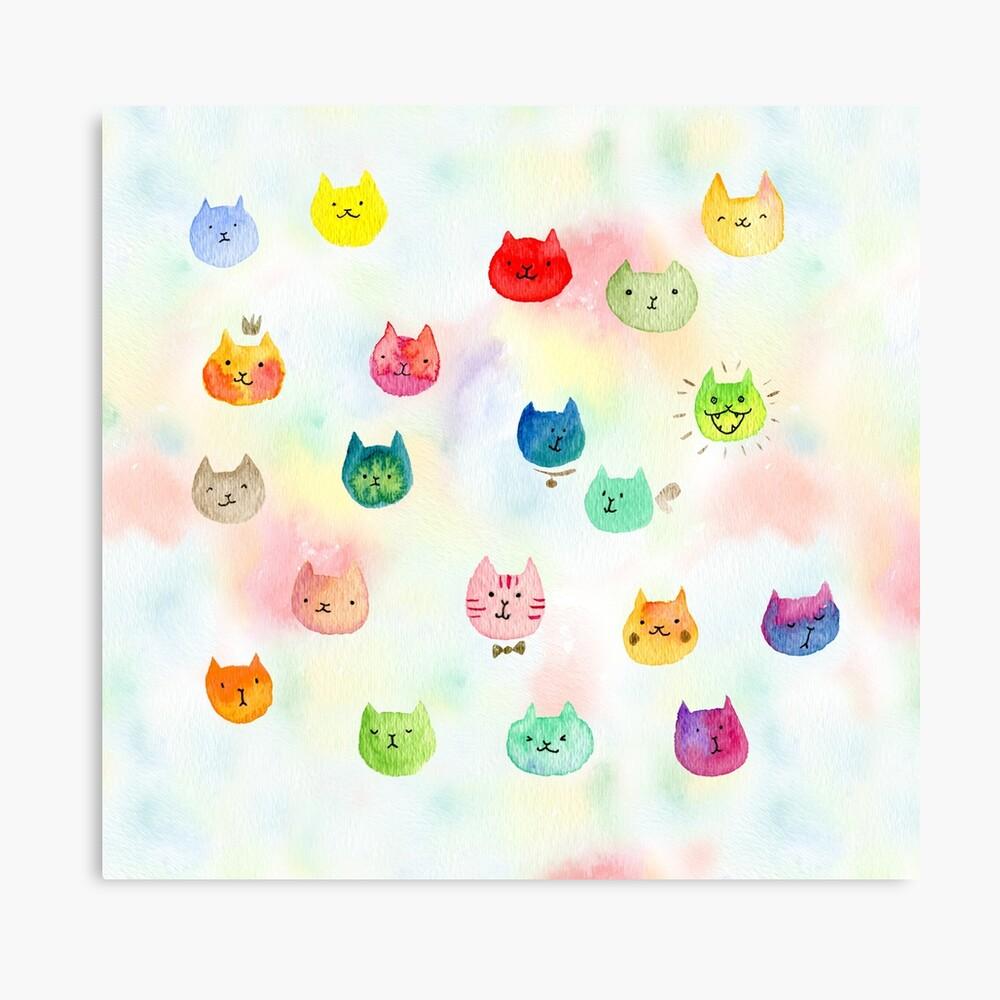 Cat confetti Canvas Print