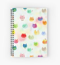 Cat confetti Spiral Notebook