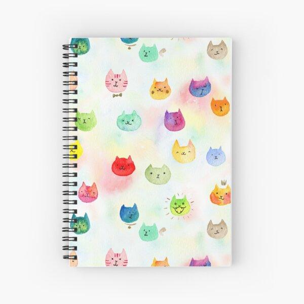 Cat confetti Spiral Notebook