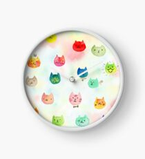 Cat confetti Clock