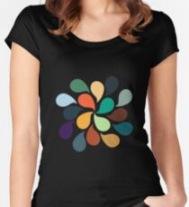 Colorful Water Drops Women's Fitted Scoop T-Shirt
