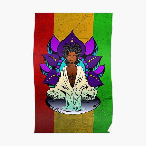 Rasta Monk Poster