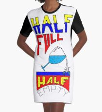 GLASS OF WATER Graphic T-Shirt Dress