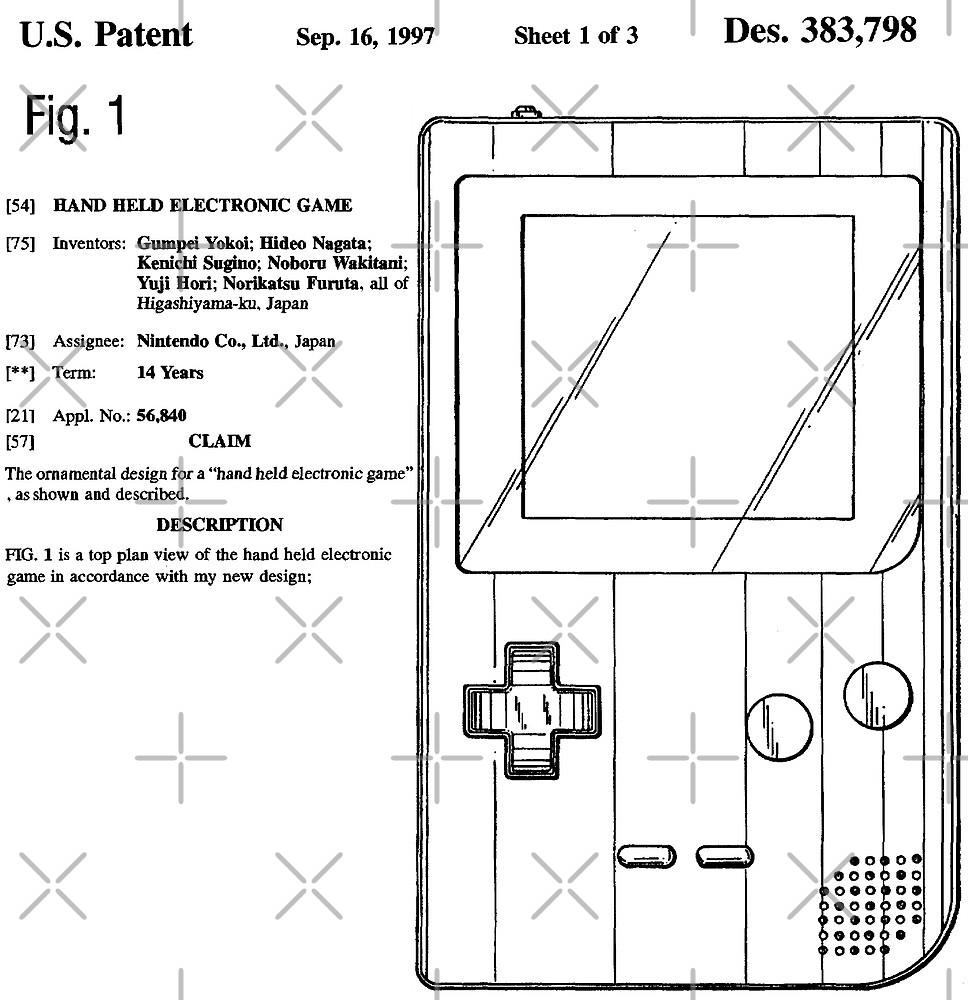 Game Boy Pocket Design Patent  by ChevDesign