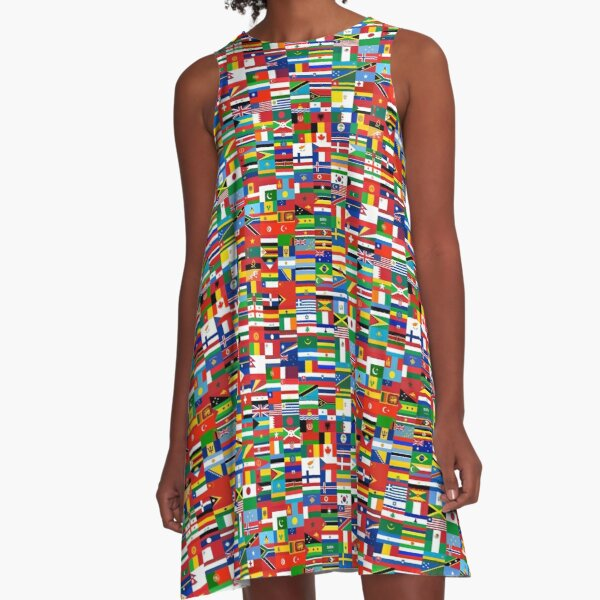 Flags of the World A-Line Dress