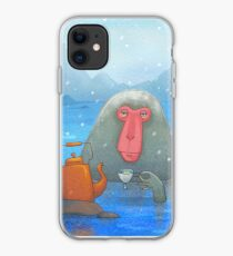 Soaking Japanese Snow Monkeys iPhone 11 case