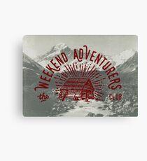 Weekend Adventurers Club Canvas Print