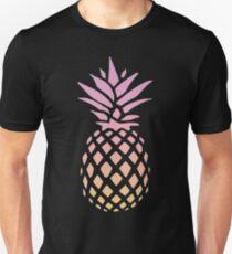Ananas-Sonnenuntergang Slim Fit T-Shirt