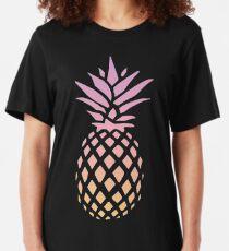 Ananas au coucher du soleil T-shirt ajusté