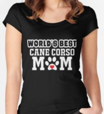 World's Best Cane Carso Mom Dog Lover Women's Fitted Scoop T-Shirt