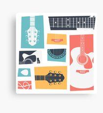 Guitar Collage Canvas Print