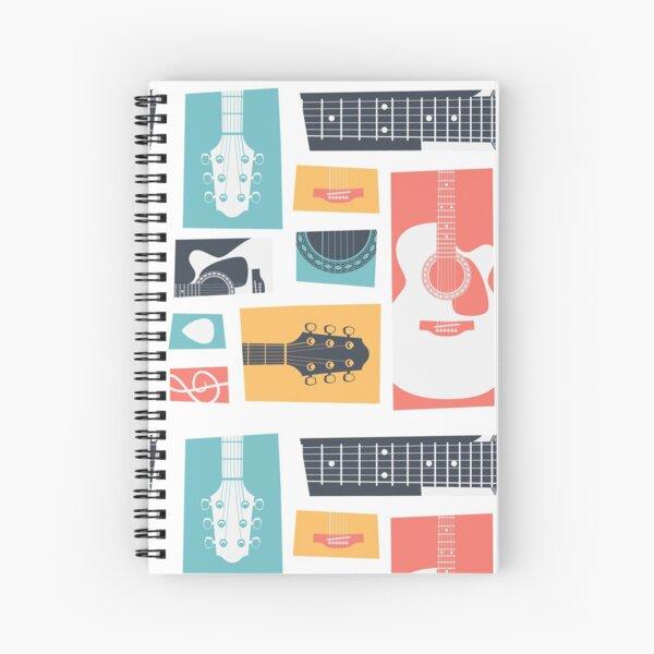Guitar Collage Spiral Notebook