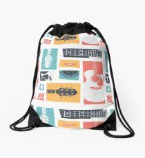 Guitar Collage Drawstring Bag
