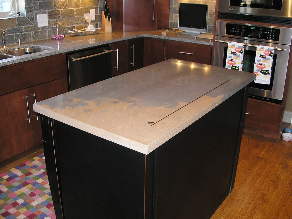 Concrete countertop by Walter Strength