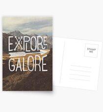 Explore Galore Postcards