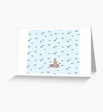 Salty sailor cat. Greeting Card