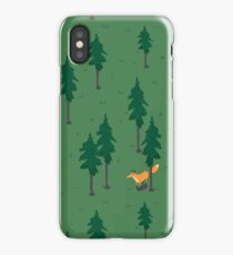 Fox in the woods. iPhone Case/Skin