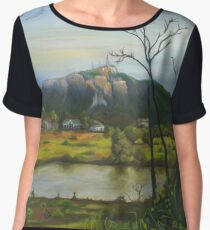 Mount Stuart, from the park. Chiffon Top