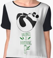 Balance Is Everything! Tumbling panda. Chiffon Top