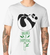 Balance Is Everything! Tumbling panda. Men's Premium T-Shirt