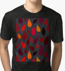 Autumn leaves pattern. Tri-blend T-Shirt