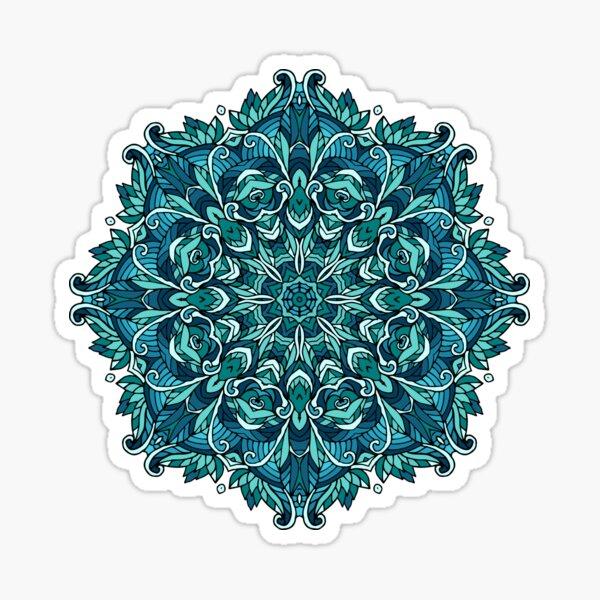Winter mandala. January Sticker