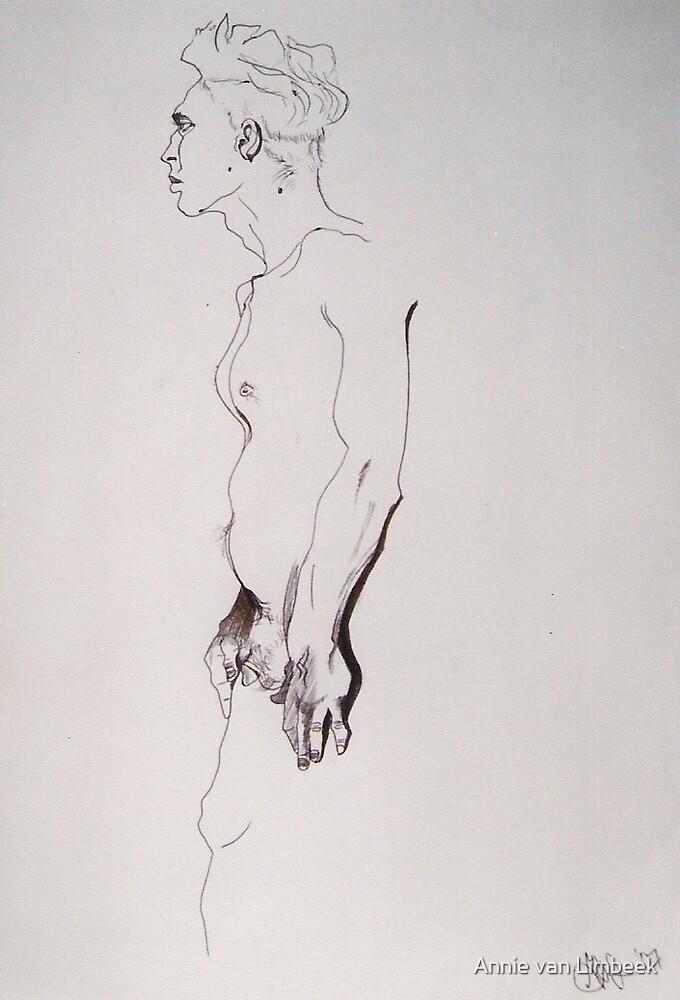 male Nude, 2007 by Annie van Limbeek