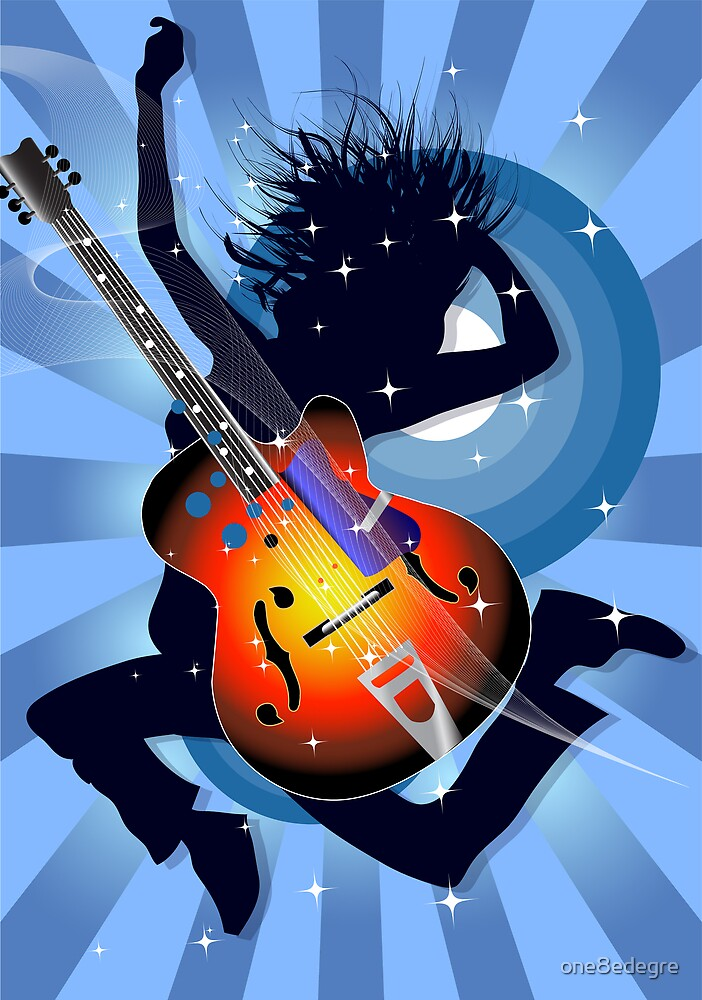 With my guitar on my back by one8edegre
