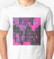 circle pattern graffiti drawing abstract in purple pink black Unisex T-Shirt