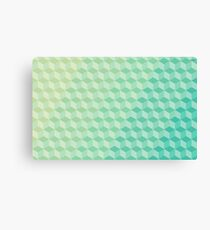 Green Cube Pattern Canvas Print