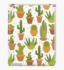 Cactus white pattern iPad Case/Skin