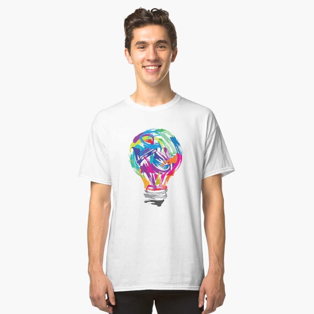 Bulb Painting Classic T-Shirt Front