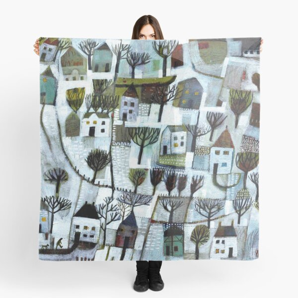 Walking to you. A winter scene. Scarf