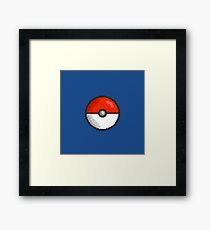 Pixel Pokeball Framed Print