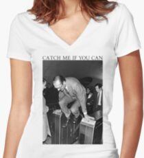 Jacques Chirac - Catch Me If You Can Women's Fitted V-Neck T-Shirt