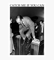 Jacques Chirac - Catch Me If You Can Photographic Print
