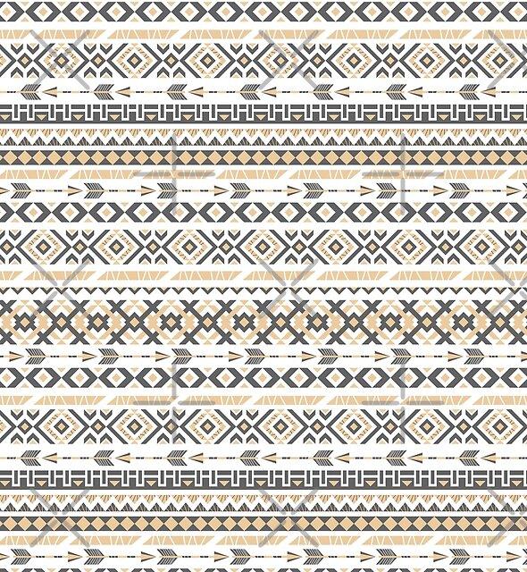 Ethnic white pattern by JuliaBadeeva