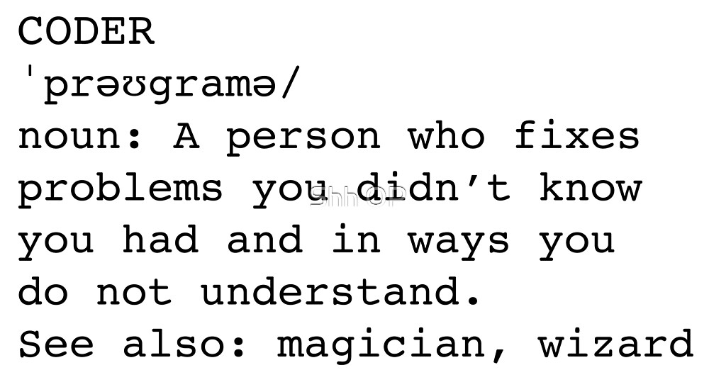 Coder / Programmer by Shh op!