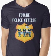 Future Police Officer - Cute Children's Aspirational Design Men's V-Neck T-Shirt