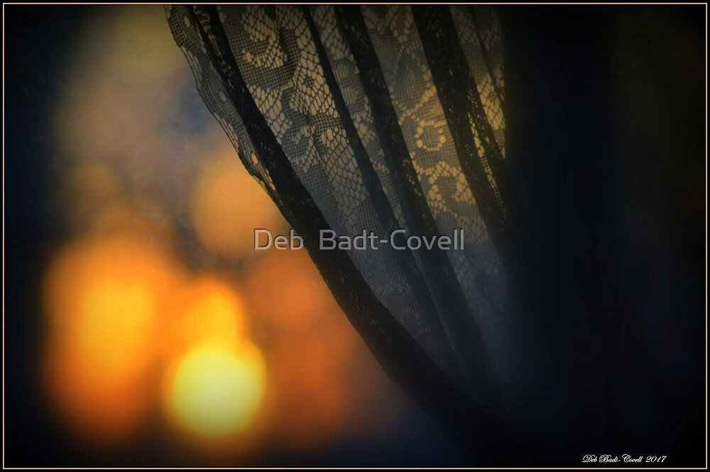 Bokeh and Lace Sunrise by Deb  Badt-Covell