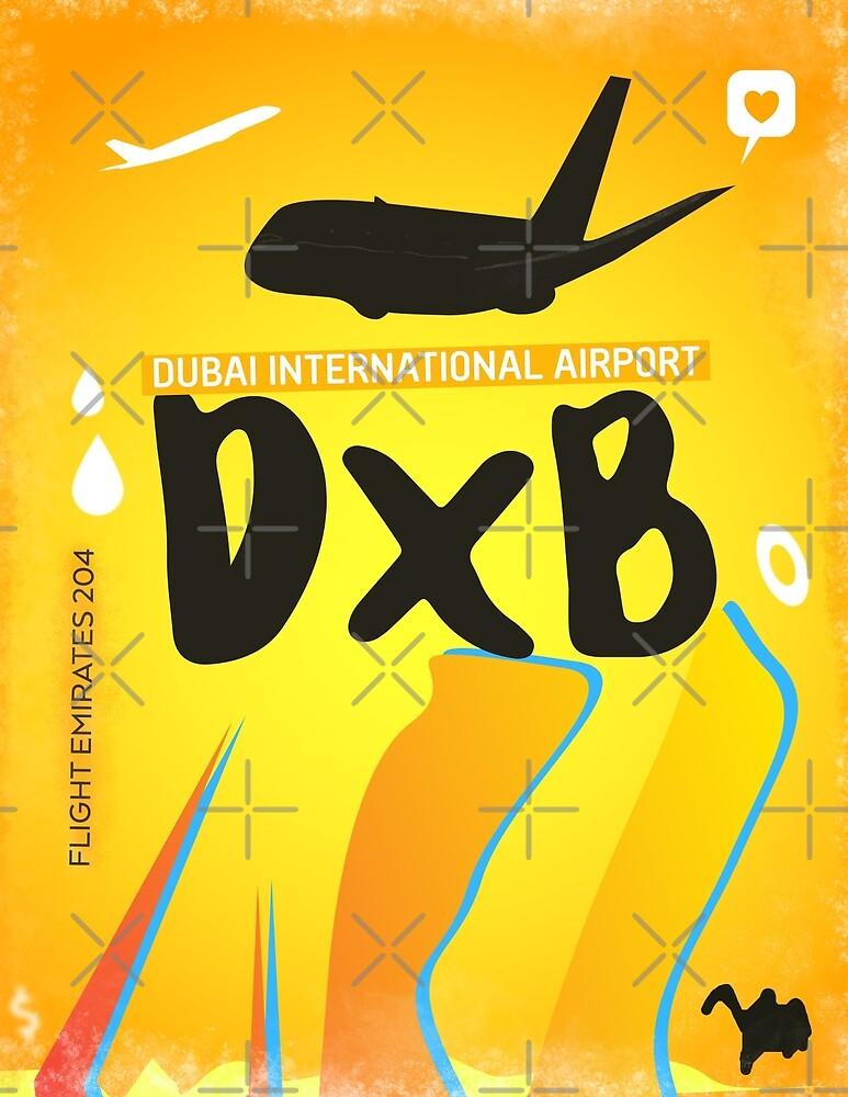 DXB Dubai airport code by Wanderlust ID