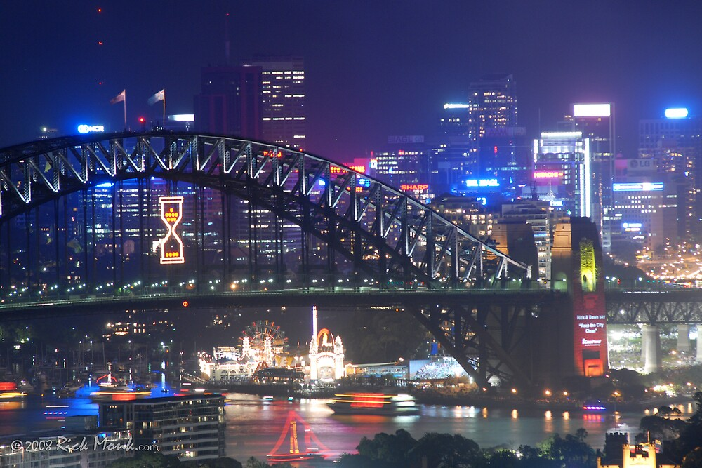 Harbour Bridge and North Sydney by Rick Monk