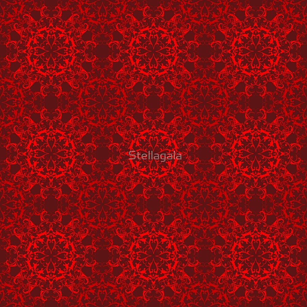 Abstract red circles seamless pattern  by Stellagala