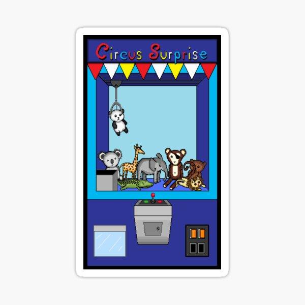 Circus Claw Machine Sticker