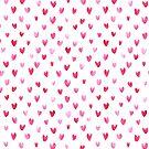 Watercolor hearts by Vicky Webb